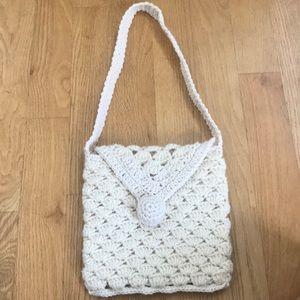 Handbags - Cream Yarn Knitted Purse